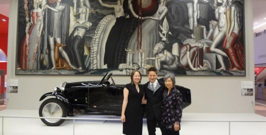 Wong Family at Art Deco Exhibit Entrance