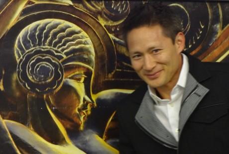 Matthew Wong at Paris Art Deco Exhibition with Liu Jipiao